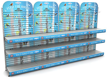 Tom Chambers: row of 4 x 1 metre display stands