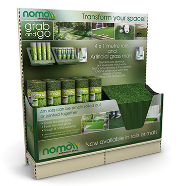 Nomow 2 metre display for Artificial Grass